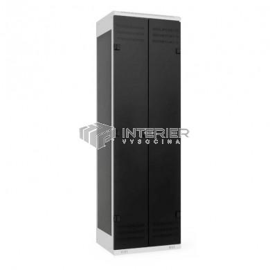 Šatní skříň kovová 2-dveřová