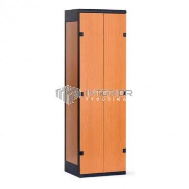 Šatní skříň kov+lamino 2-dveřová