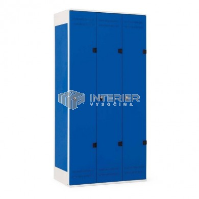Šatní skříň kovová 3-dveřová