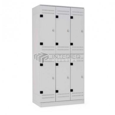 Šatní skříň kovová 6-boxová