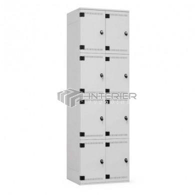 Šatní skříň kovová 8-boxová