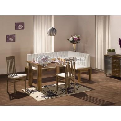 Helena rohová lavice - jídelní set