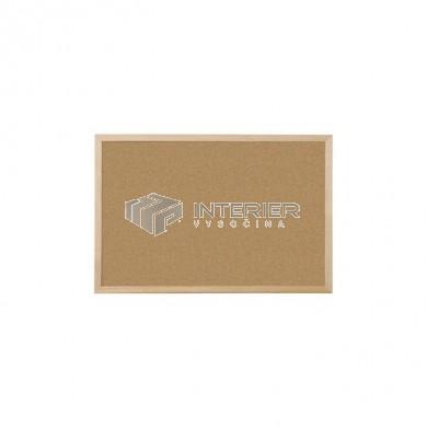 Nástěnka korková, dřevěný rám 60 x 45 cm