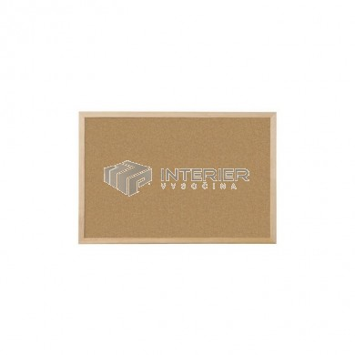 Nástěnka korková, dřevěný rám 90 x 60 cm