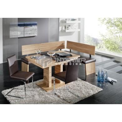 Kréta rohová lavice - jídelní set