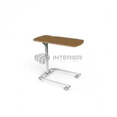 Jídelní stolek S-205-A s plynovou pístnicí a odkládací deskou (lamino)