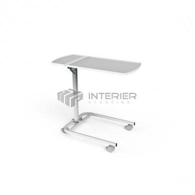 Jídelní stolek S-205-A s plynovou pístnicí a odkládací deskou (skořepina)